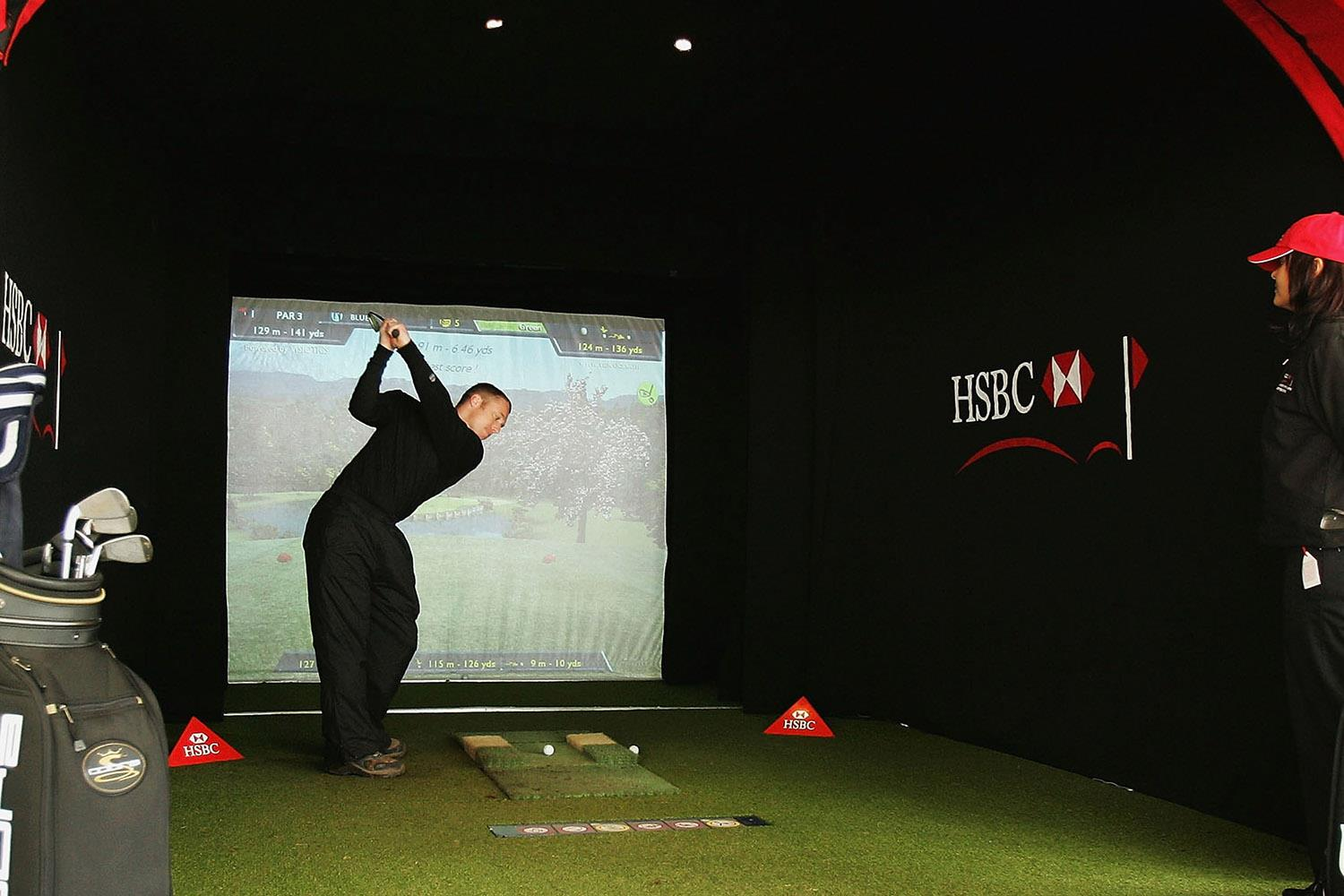 Have a go on a golf simulator