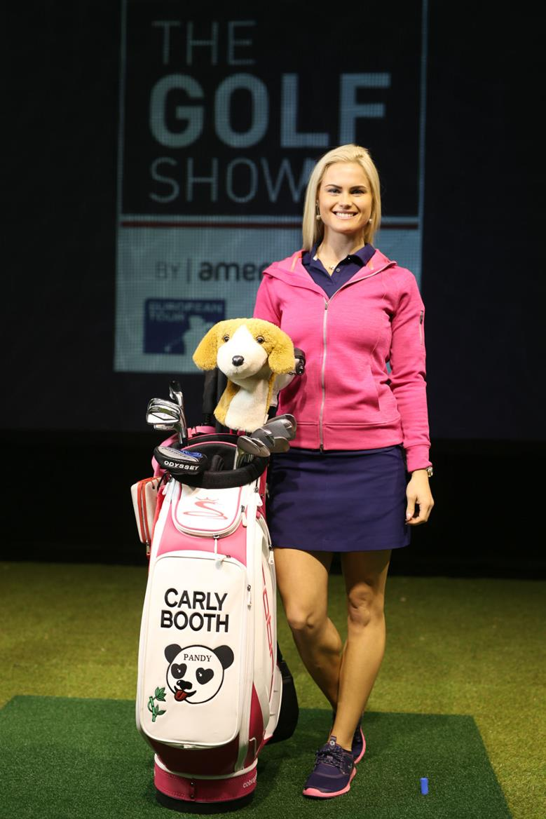 Carly Booth at American Golf Long Drive
