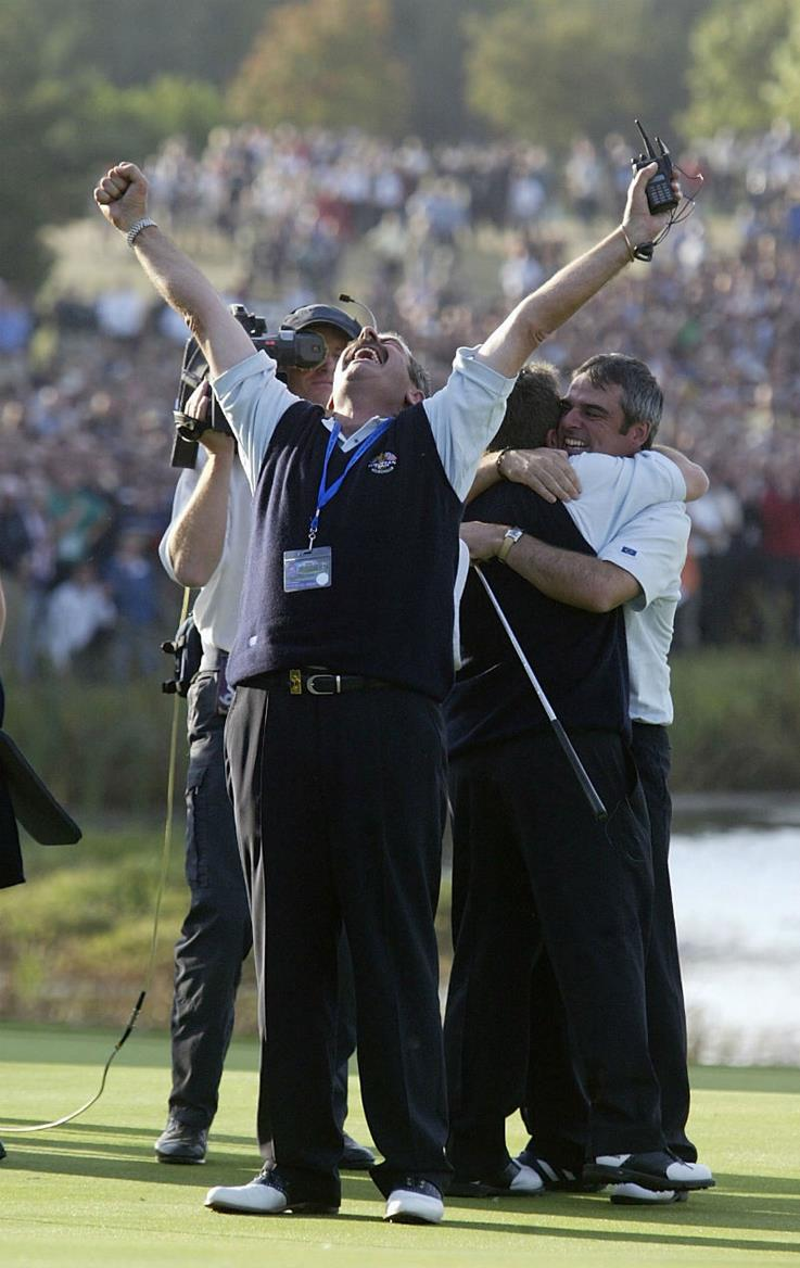 Sam Torrance winning the Ryder Cup as Captain