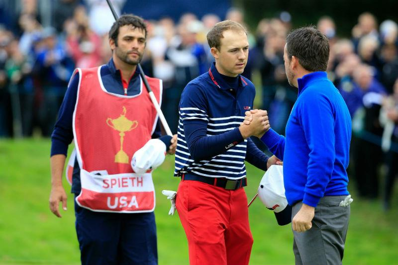 Spieth at the Ryder Cup