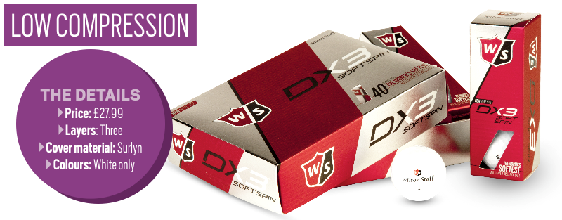 Wilson Staff DX3 Soft Spin golf ball