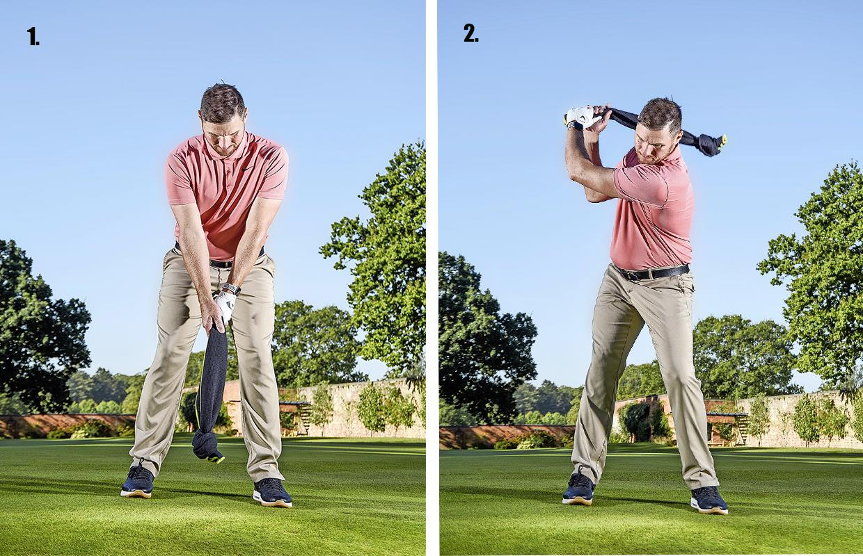 drill 2 downswing and finish