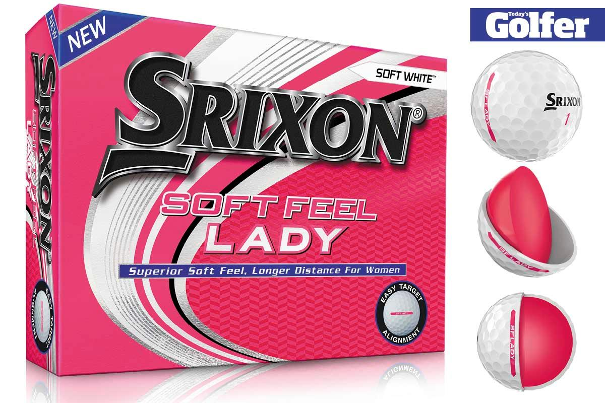 The Srixon Soft Feel Lady golf ball is available in Soft White.