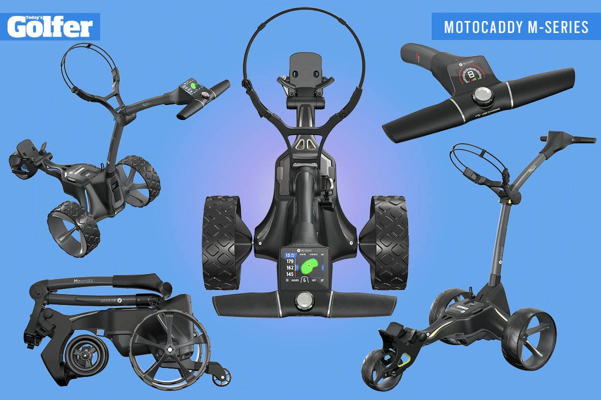 The new Motocaddy M-Series trolleys - M1, M3 GPS, M5 GPS, M7 Remote and M-TECH.