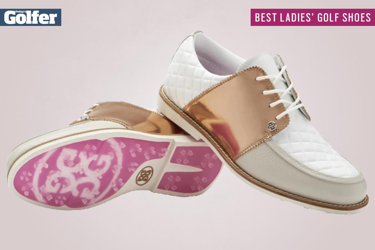 G-Fore Rose Gold Quilted Gallivanter are among the best women's golf shoes.