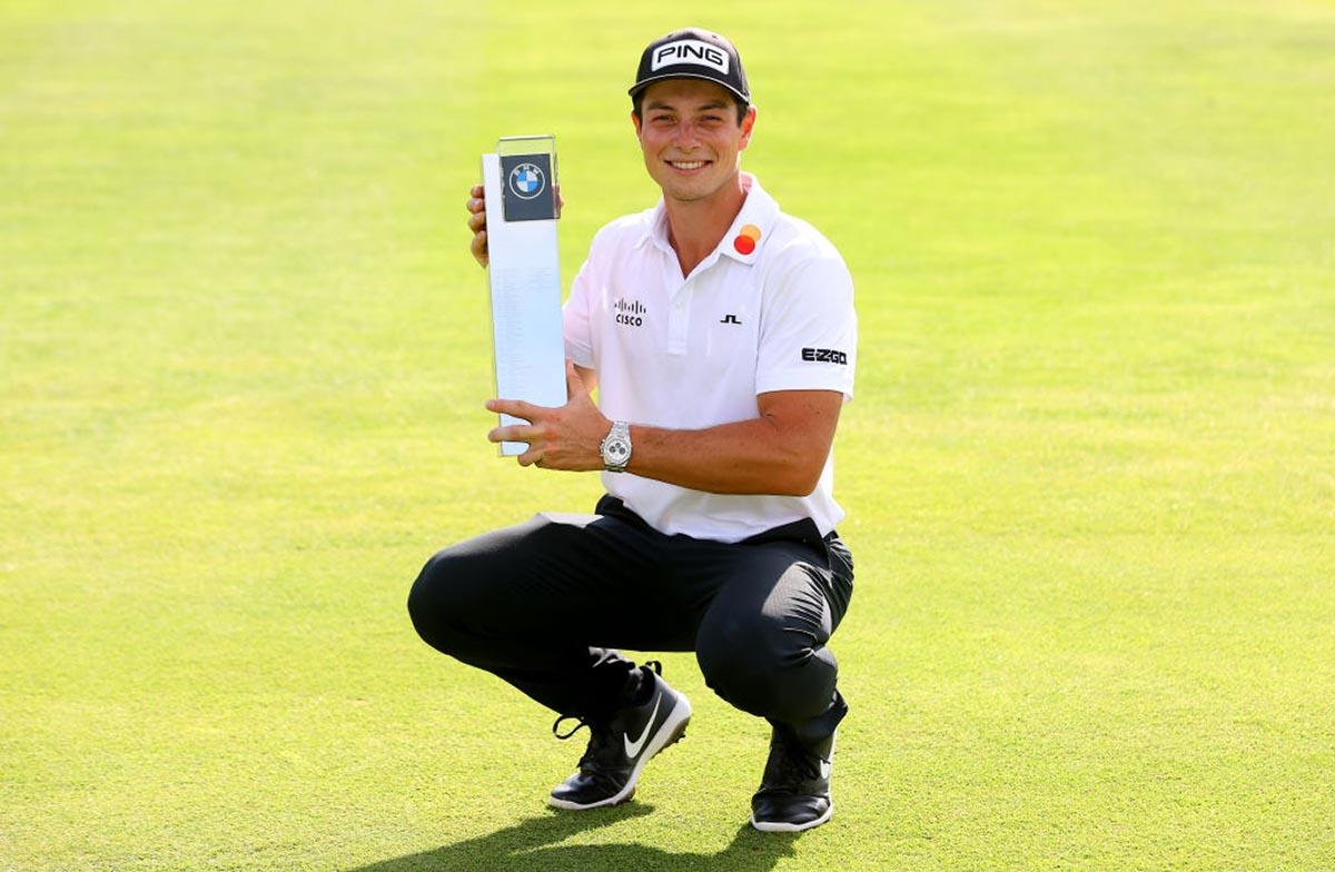 Viktor Hovland became the first Norwegian to win the European Tour by winning the BMW International Open.