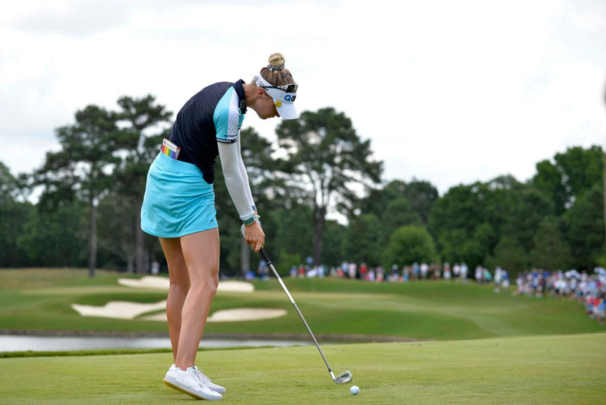 Nelly Korda uses Titleist T100 irons.