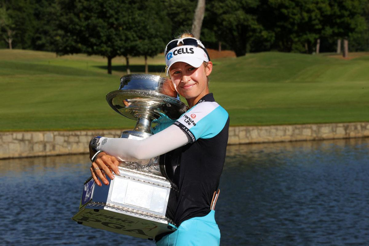 Nelly Korda won her first major in the KPMG Women's PGA Championship.